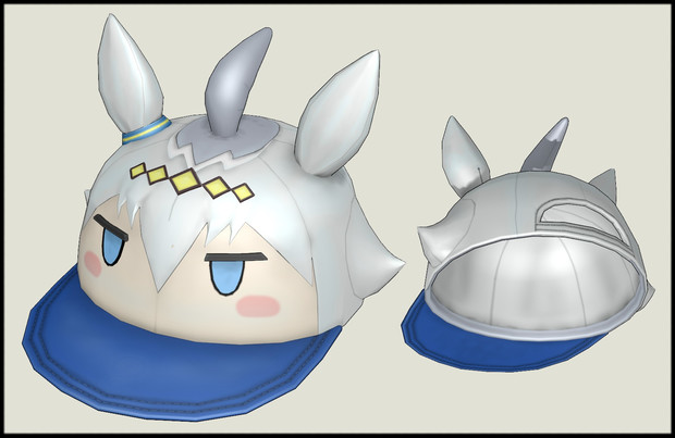 【MMDモデル配布】オグリ帽子_v1.0