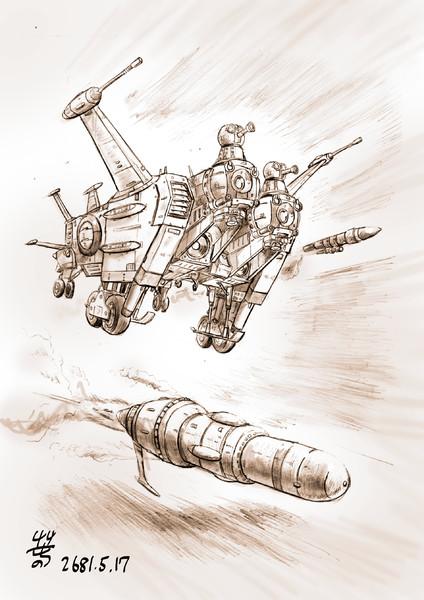 大型ミサイル搭載型攻撃艇型MS「カットル」