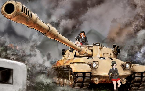 WoTゆっくり実況動画にて使用したキャラ絵+戦車絵