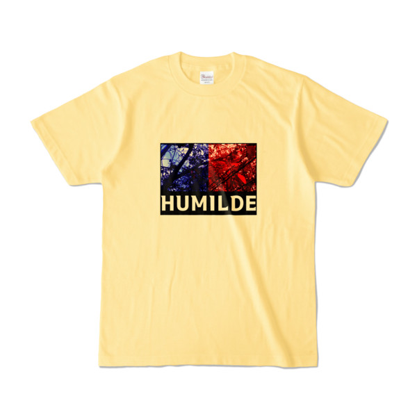 Tシャツ   ライトイエロー   HUMILDE_Blue&Red
