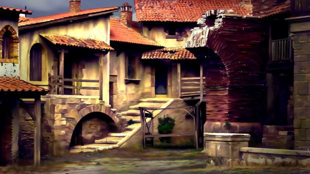 ヨーロッパ風廃墟