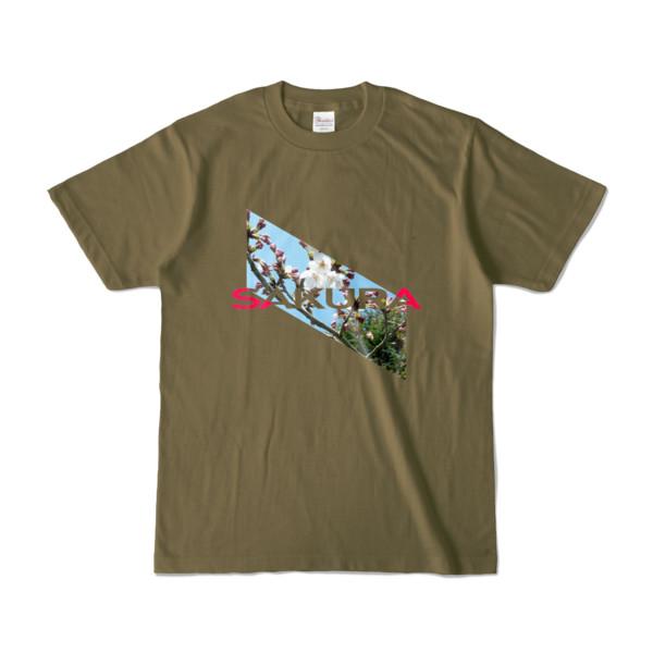 Tシャツ   オリーブ   Slant_SAKURA