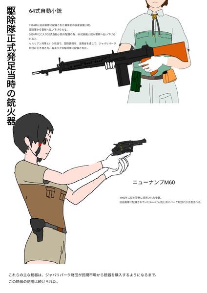駆除隊の銃器