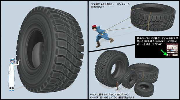 【MMDモデル配布】巨大タイヤ_v1.0