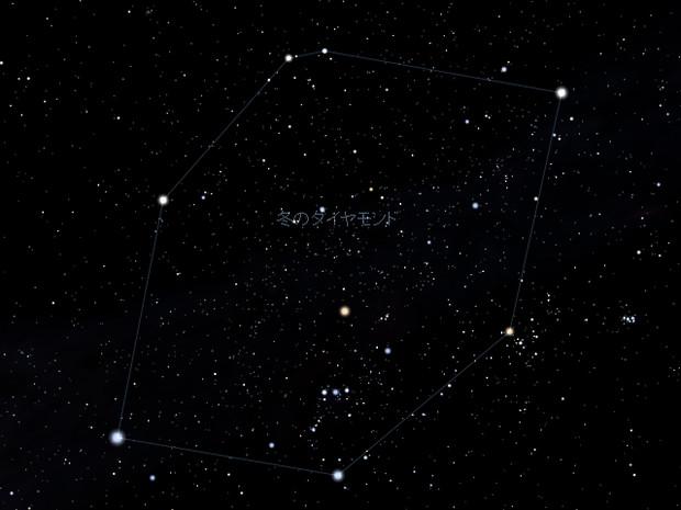 Stellarium 冬のダイヤモンド