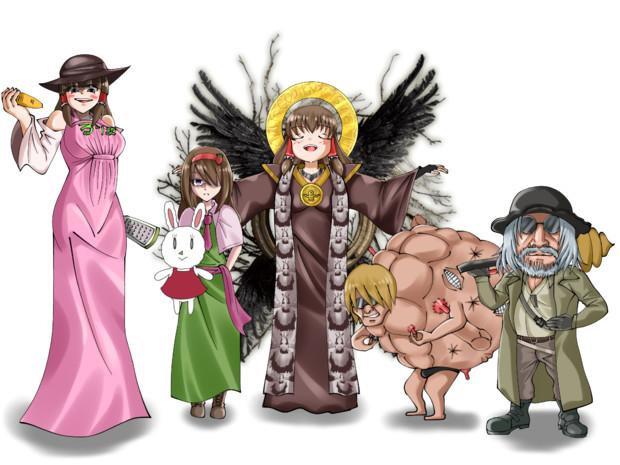 ヴィレッジ四貴族とマザーミカンナ