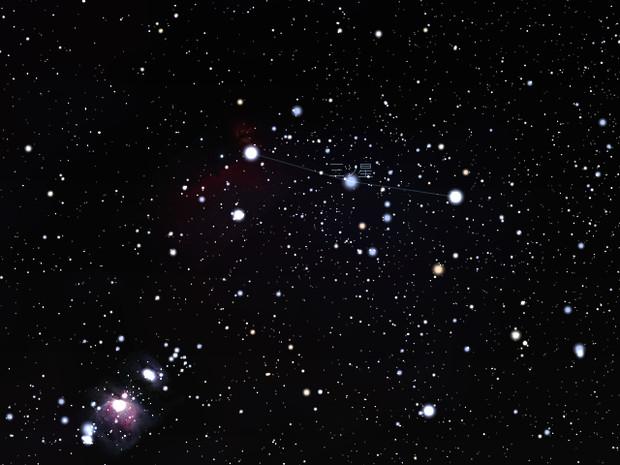 Stellarium 三ツ星