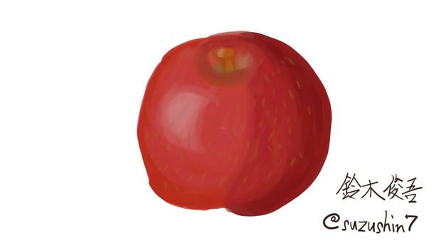 初めてのデジタルイラストで『りんご』を描いてみた!
