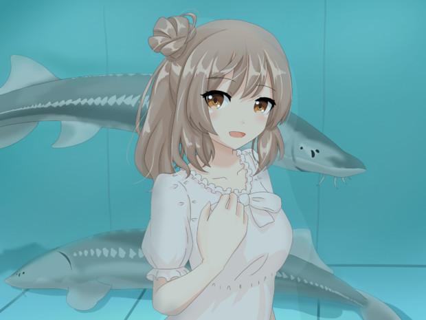 水族館のささらちゃん