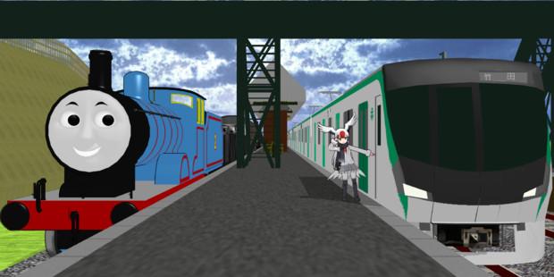 ソドー鉄道に乗り入れる烏丸線