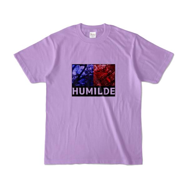 Tシャツ   ライトパープル   HUMILDE_Blue&Red