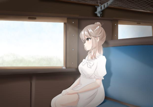 旧型客車とささらちゃん!