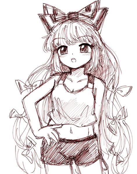 夏の装い妹紅