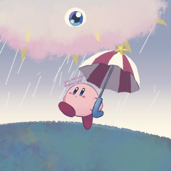 梅雨のカービィ