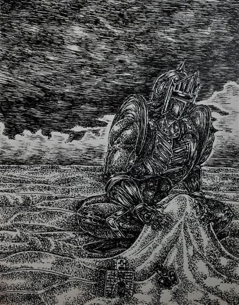 砂遊びをするロビンマスク