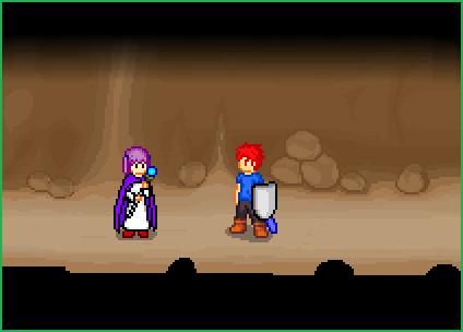 背景 洞窟内