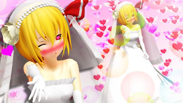 【第4回裏T-1グランプリ】ウエディングドレスが似合うルーミア【第13回東方ニコ童祭】