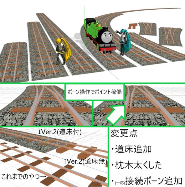 【モデル配布あり】ちんまり鉄道用レールセットVer.2