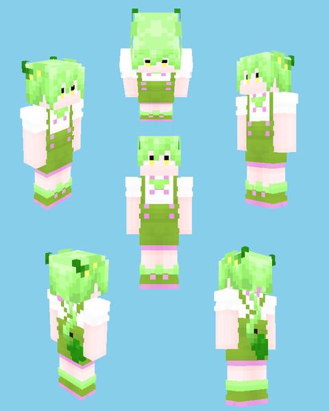 【Minecraft】ずんだもん(擬人化)
