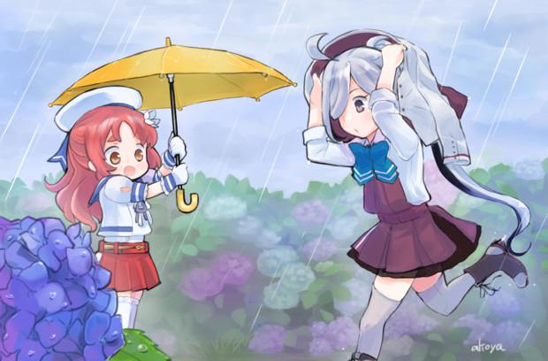 傘に入って欲しい屋代ちゃん