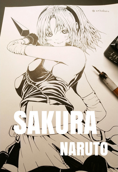 春野 サクラ - ナルト / Sakura - NARUTO【線画】完成イラスト過去作2020
