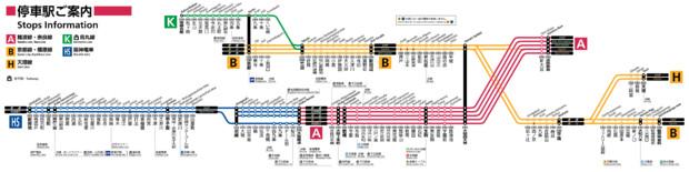 【JR西日本風】近鉄奈良・京都・橿原線路線図