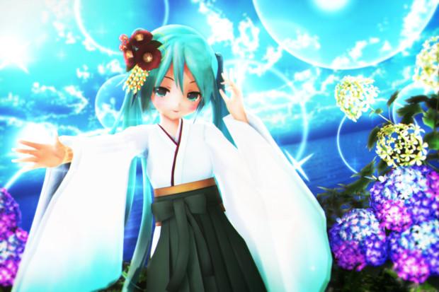【あっぴぃ萌えリンク】青空と紫陽花…♪