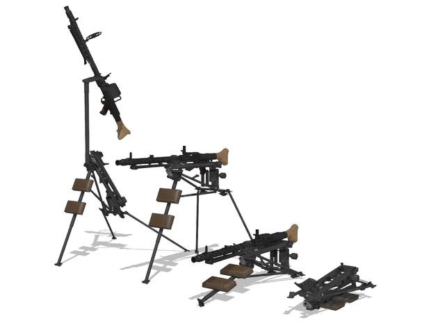 【MMDモデル配布】 MG-34用三脚  Lafette34