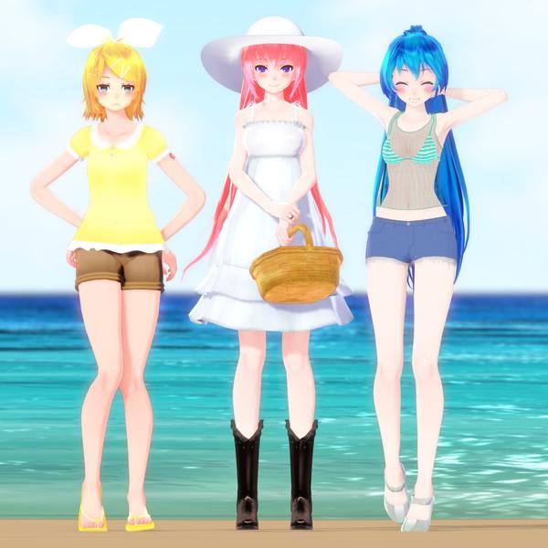 ポニてミクさんの日常 [210718] 夏の三姉妹