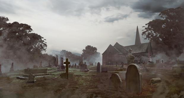 【TRPG】【フリー素材】墓地【ゲーム使用OK】【クトゥルフ神話】