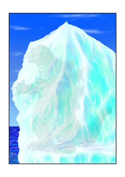 キンゴジ氷山中