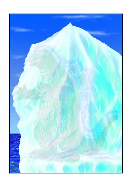 キンゴジ氷山中発光