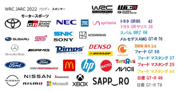 JRCA 全日本ラリー選手権 2022 FIA MS パロディー