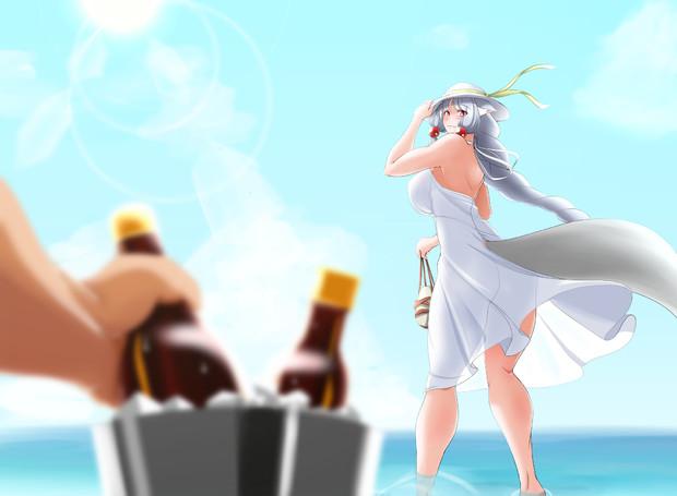 夏の海とイタコさん