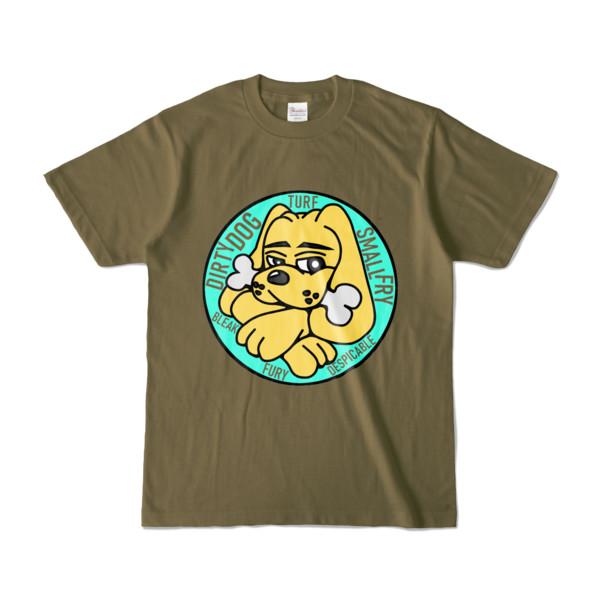 Tシャツ   オリーブ   DIRTY♀ワンちゃん