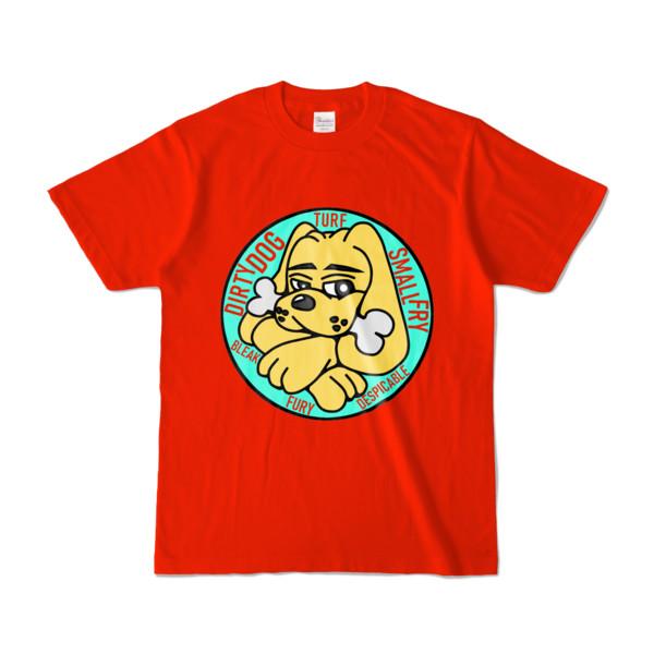 Tシャツ   レッド   DIRTY♀ワンちゃん
