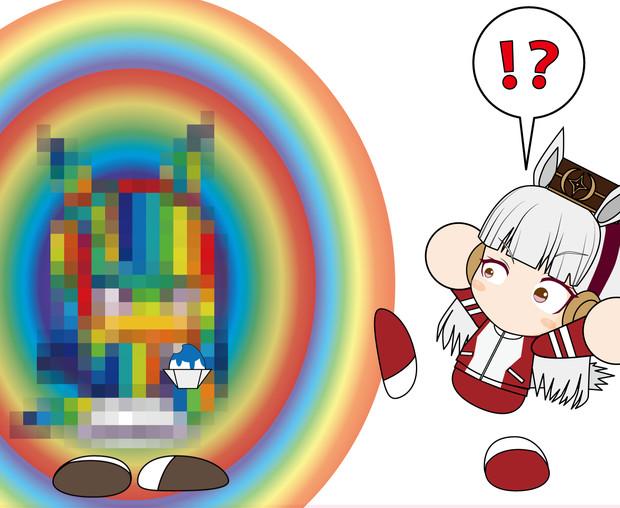 タキオンのかき氷(右)を選ぶ…!