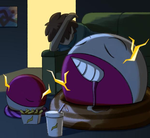 【ポケモン】眠リダマと寝ルマイン