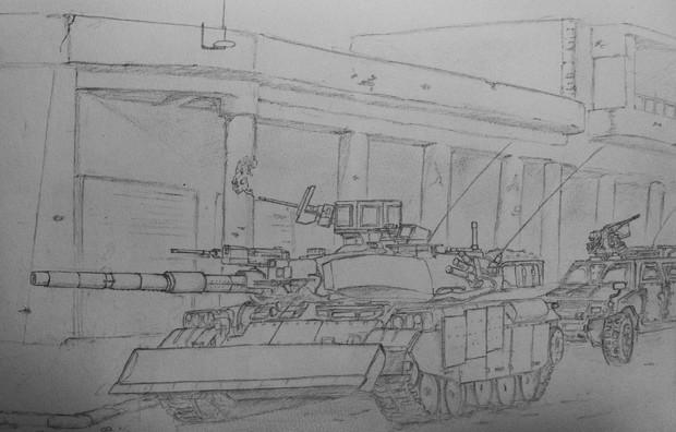 74式戦車GⅡ型(海兵隊仕様)