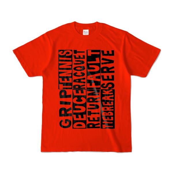 Tシャツ   レッド   Super☆Tennis_word