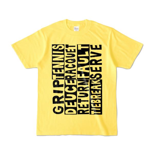 Tシャツ | イエロー | Super☆Tennis_word