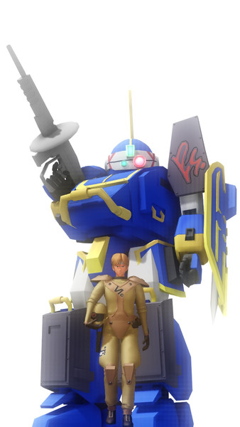 【MMDボトムズ】青い騎士