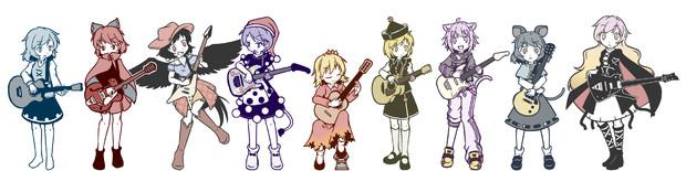 #フォロワーさんの推しを描きたい with ギター 横並び!