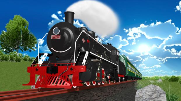 [MMDモデル配布]中国鉄路上游型蒸気機関車