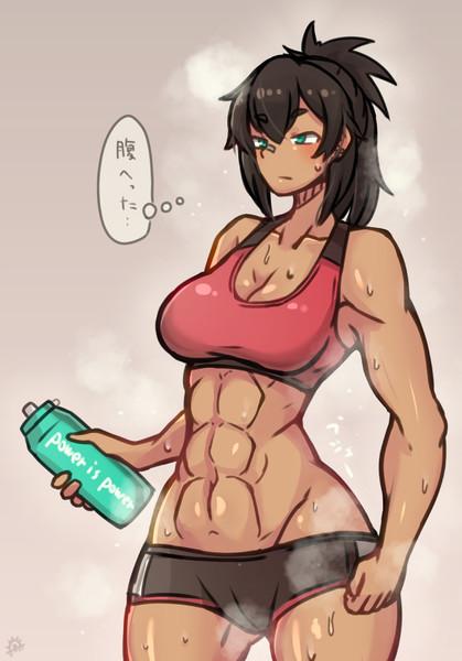 適度な運動をするお姉さん