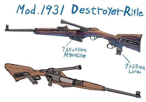 デストロイヤーライフル Mod.1931
