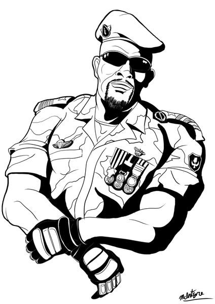 ギニア国防軍特殊部隊ママディ・ドゥンブヤ大佐