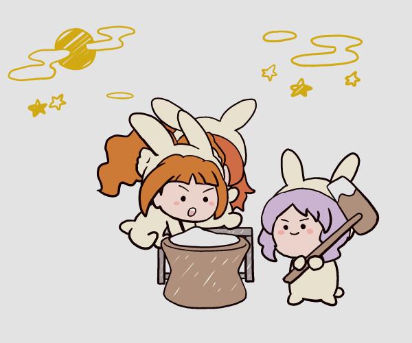 ミリシタGIFアニメ『中秋の名月』