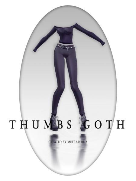 【MMD- PTU Clothes】Thumbs Goth