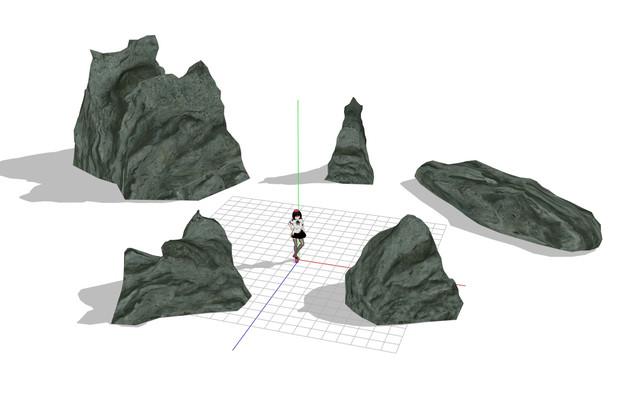 背景用岩モデル